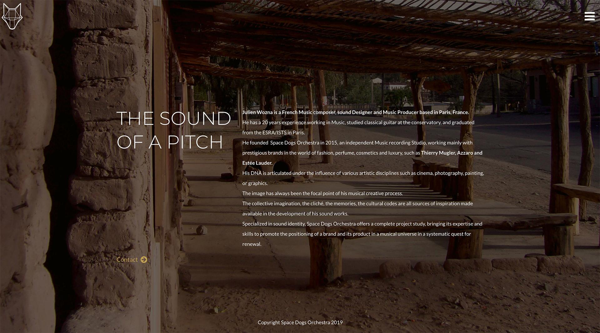 Webdesign et développpement pour un studio de composition musicale - sound design à Paris. Descriptif du studio.