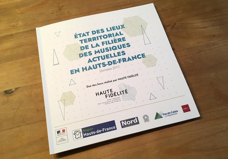 Couverture Etat des lieux des musiques actuelles en hHauts-de-France pour Haute-Fidélité